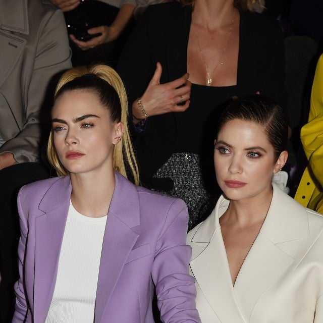 cara delevingne and ashley benson at milan fashion week