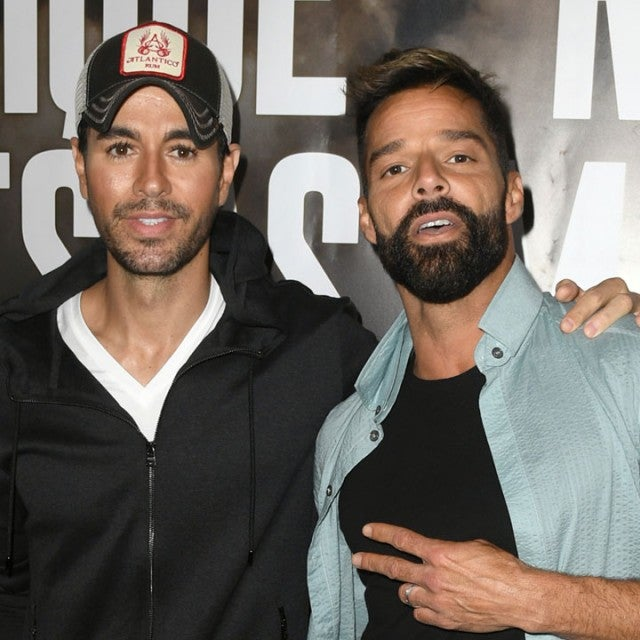 Enrique Iglesias and Ricky Martin hold a press conference in weho
