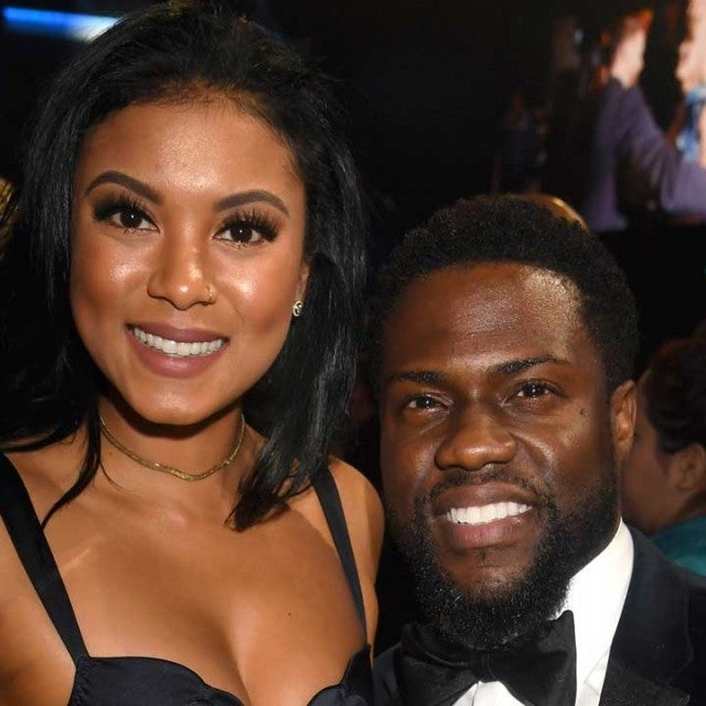 Eniko Parrish and Kevin Hart at the People's Choice Awards 2017