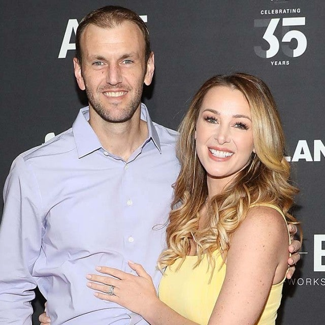 Doug Hehner and Jamie Otis attend the 2019 A+E Upfront at Jazz at Lincoln Center on March 27, 2019 in New York City.