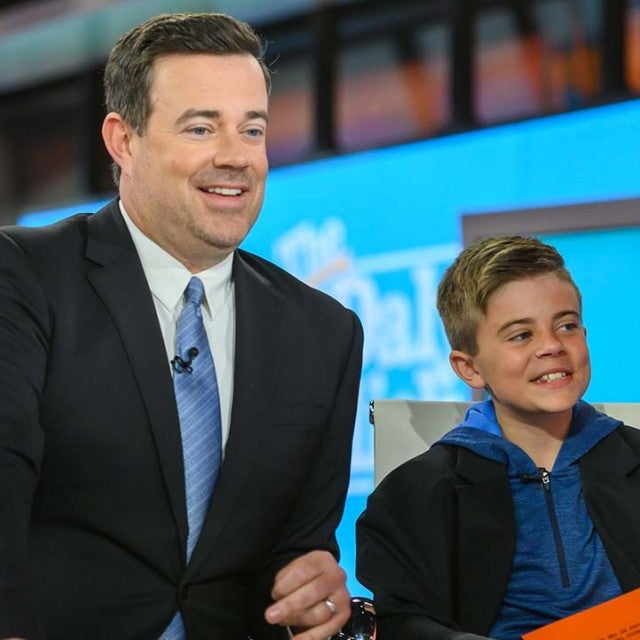 Carson Daly and son Jackson on Thursday, April 25, 2019