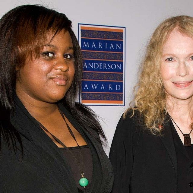 Mia Farrow and daughter Quincy Farrow attend the 2011 Marian Anderson award gala honoring Mia Farrow at the Kimmel Center for the Performing Arts on May 10, 2011 in Philadelphia, Pennsylvania.