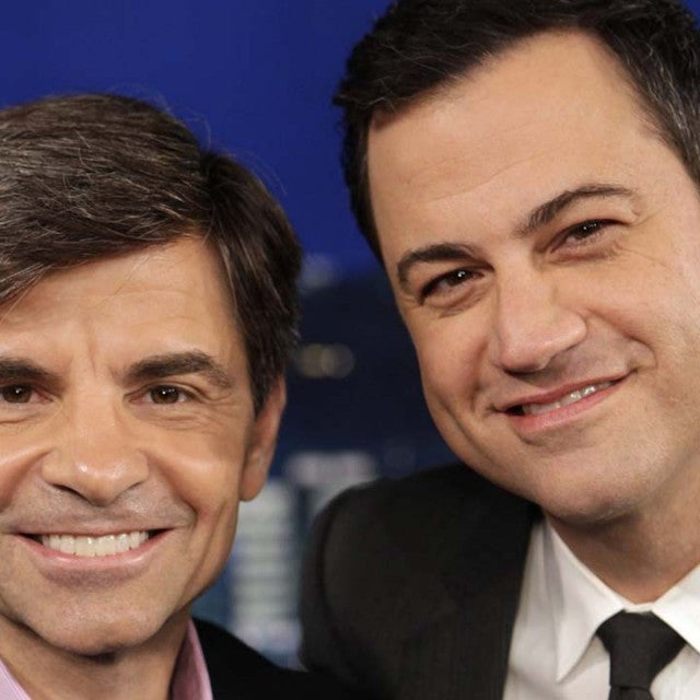 George Stephanopoulos and Jimmy Kimmel