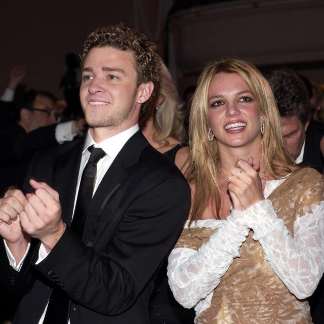 Justin Timberlake and Britney Spears during The 44th Annual GRAMMY Awards