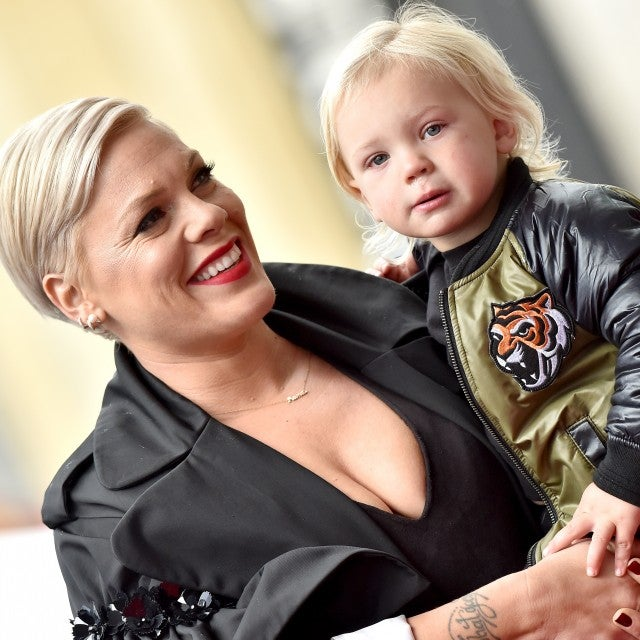 Pink and son jameson in 2019