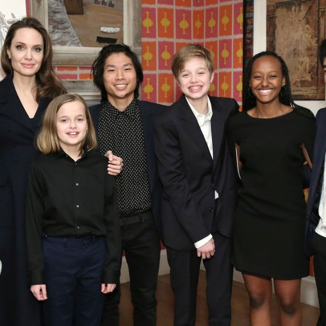 angelina jolie and her six kids