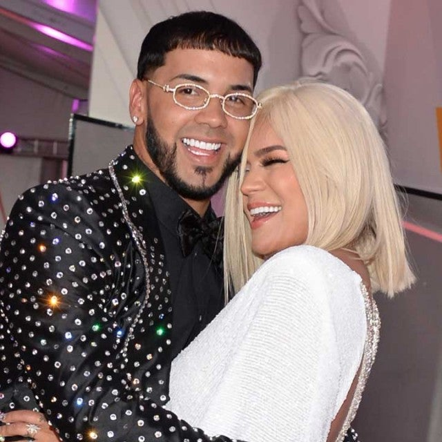 Anuel AA and Karol G in April 2019