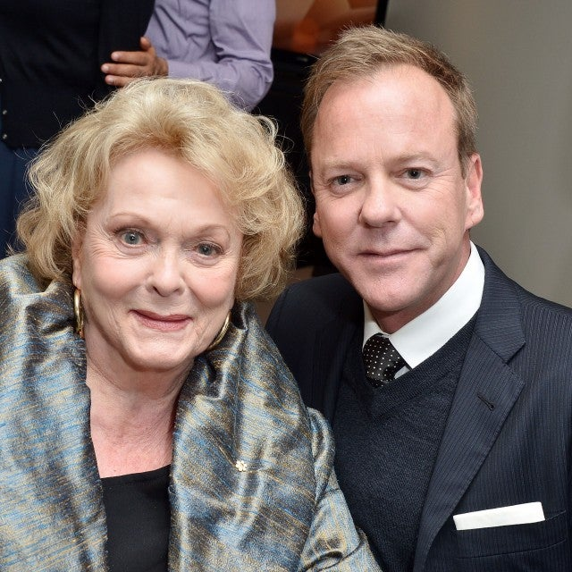"Kiefer Sutherland (R) and his mother, actress Shirley Douglas attend ""The Reluctant Fundamentalist"" premiere"