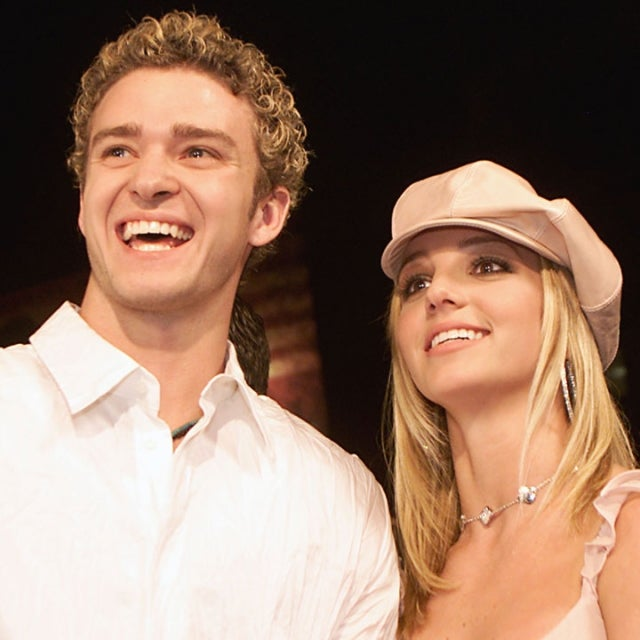 Britney Spears and Justin Timberlake at the premiere of Crossroads