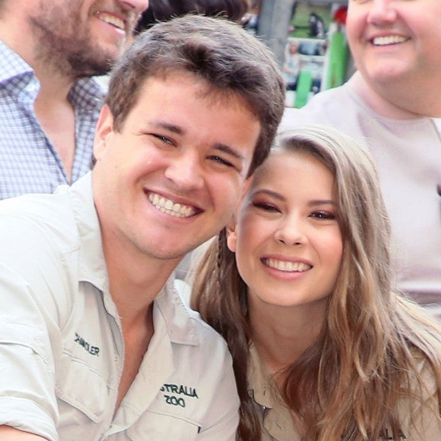 Chandler Powell and Bindi Irwin at Steve Irwin being honored posthumously walk of fame