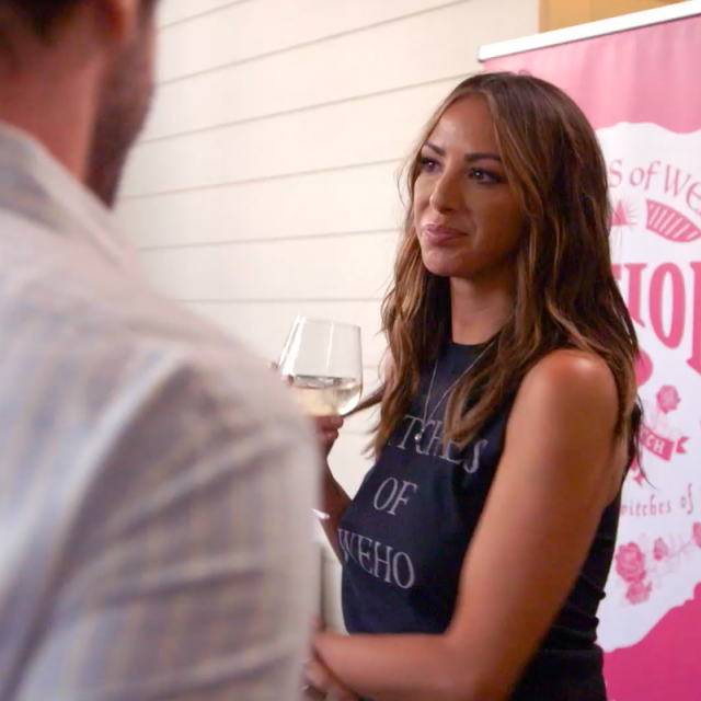 Kristen Doute at a Witches of WeHo wine event on 'Vanderpump Rules.'