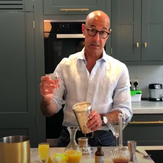 stanley tucci some good news bartending