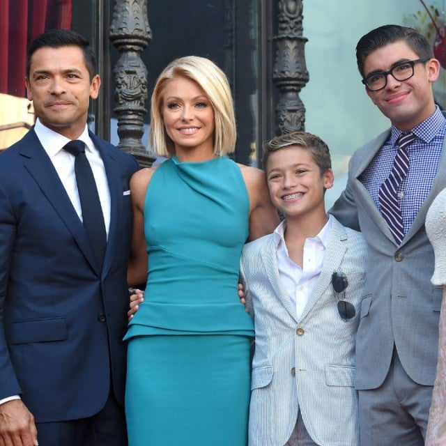 Mark Consuelos, Kelly Ripa and their kids