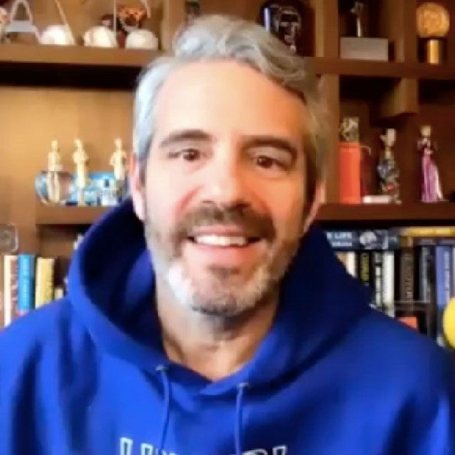 Andy Cohen video chats with ET from his home in New York City.