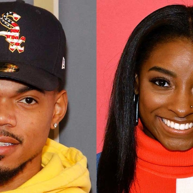 Chance the Rapper and Simone Biles