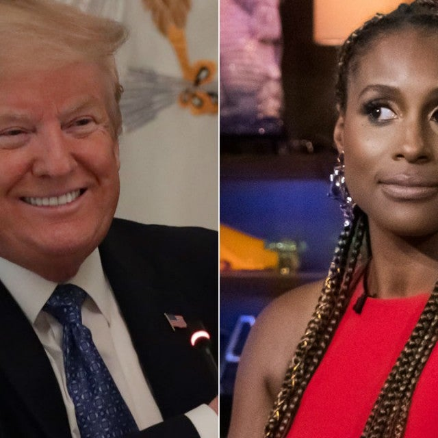 Donald Trump and Issa Rae