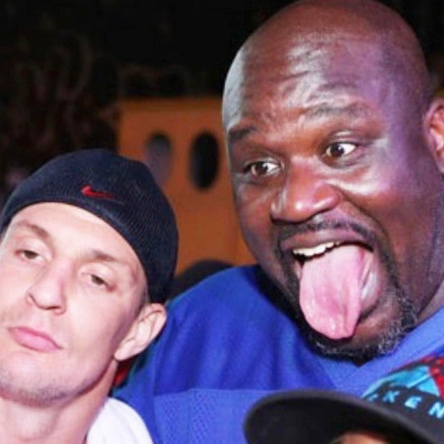Shaq and Gronk Put Their Bromance to the Test for Charity Event