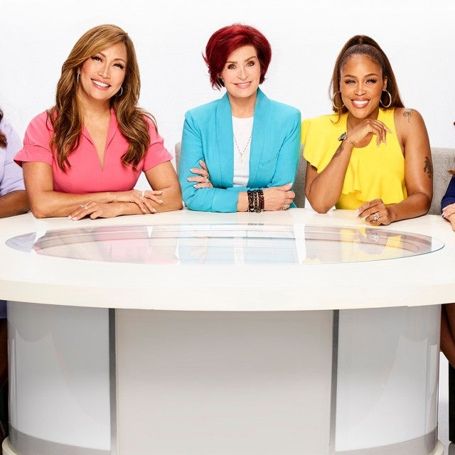 Sheryl Underwood, Carrie Ann Inaba, Sharon Osbourne, Eve Cooper, and Marie Osmond, hosts of the CBS series THE TALK