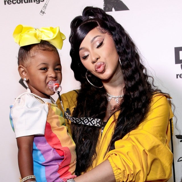 cardi b and daughter kulture at teyana taylor's album listening party