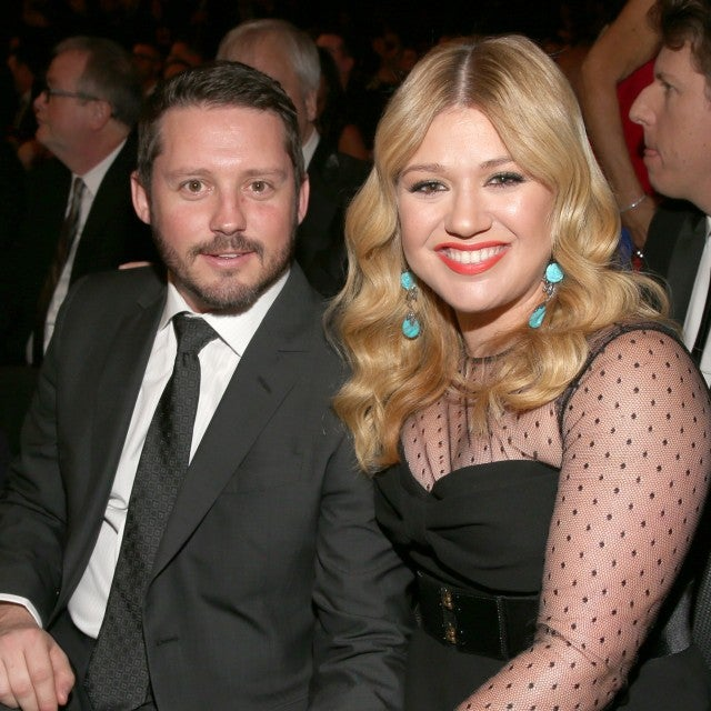 Kelly Clarkson and Brandon Blackstock at the 2013 GRAMMY Awards