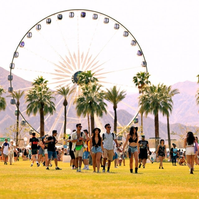 Festivalgoers at the 2018 Coachella Valley Music And Arts Festival