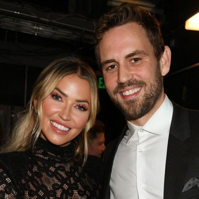 Kaitlyn Bristowe and Nick Viall at the 2020 iHeartRadio Podcast Awards