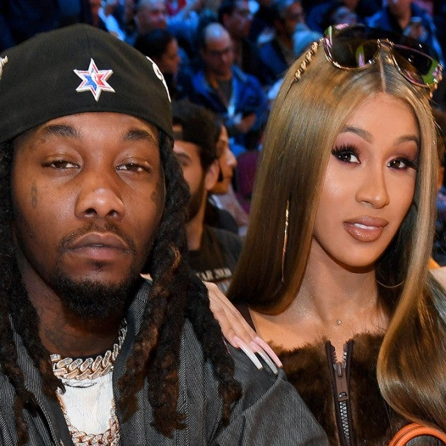 Cardi B and Offset at 2020 State Farm All-Star Saturday Night