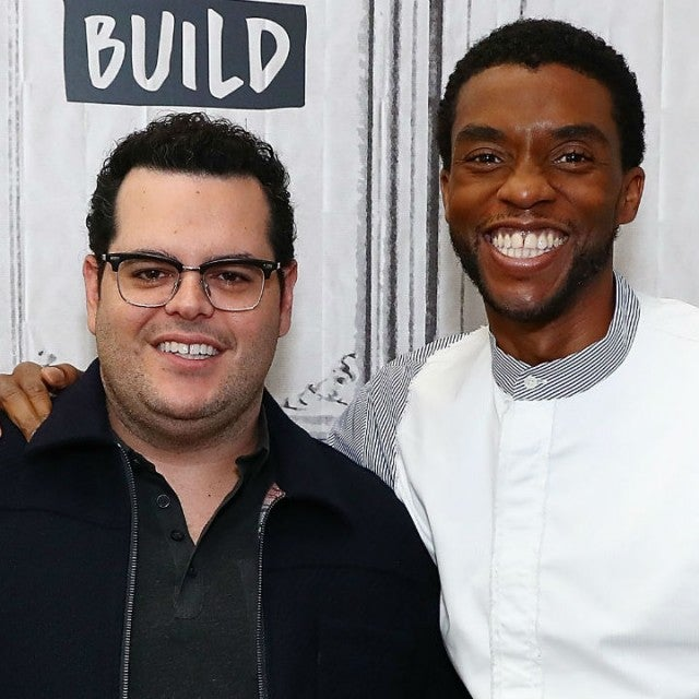 Josh Gad and Chadwick Boseman