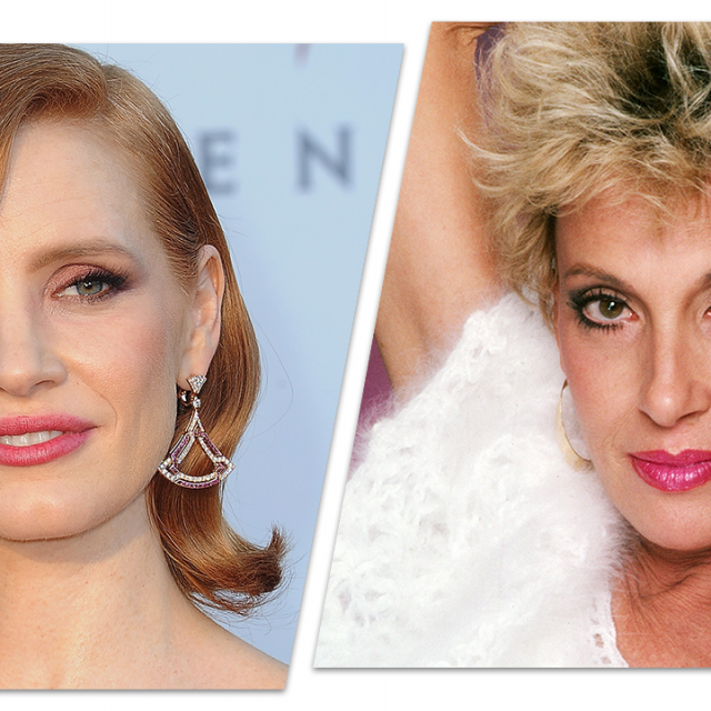 Jessica Chastain and Tammy Wynette