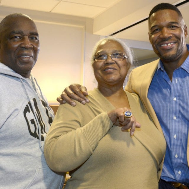 Michael Strahan and parents