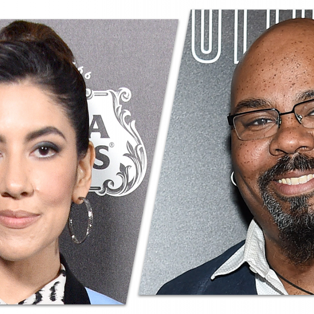 Stephanie Beatriz and James Monroe Iglehart