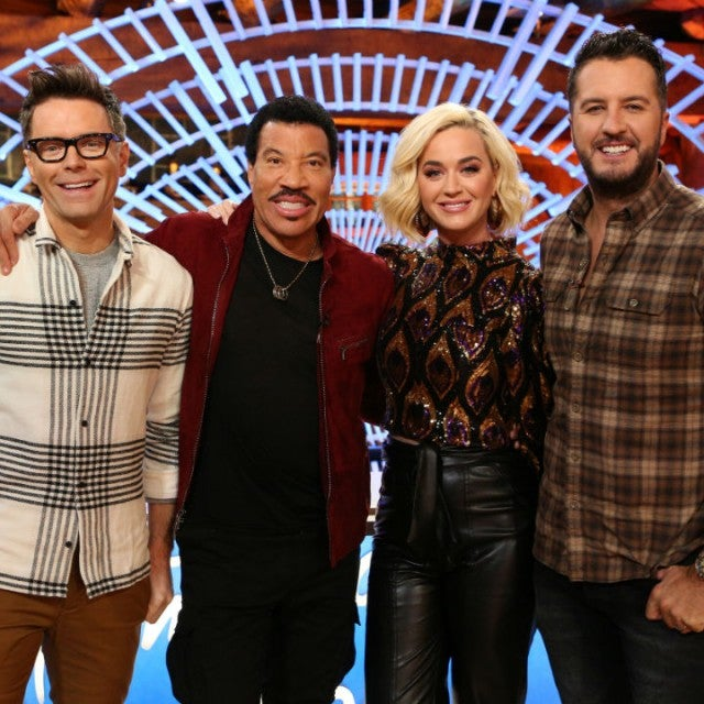 Bobby Bones, Lionel Richie, Katy Perry, and Luke Bryan