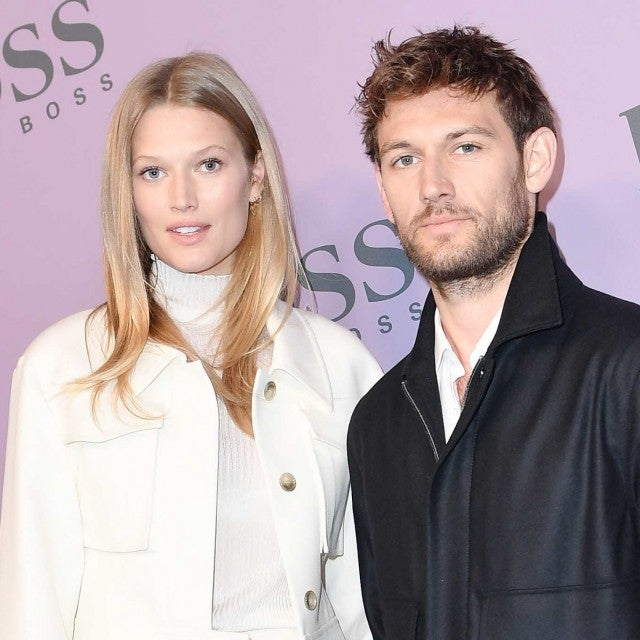 Toni Garrn and Alex Pettyfer attend the Boss fashion show on February 23, 2020 in Milan, Italy.