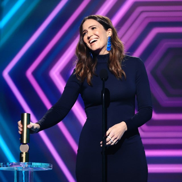 In this image released on November 15, Mandy Moore, The Drama TV Star of 2020, accepts the award onstage for the 2020 E! People's Choice Awards held at the Barker Hangar in Santa Monica, California and on broadcast on Sunday, November 15, 2020.
