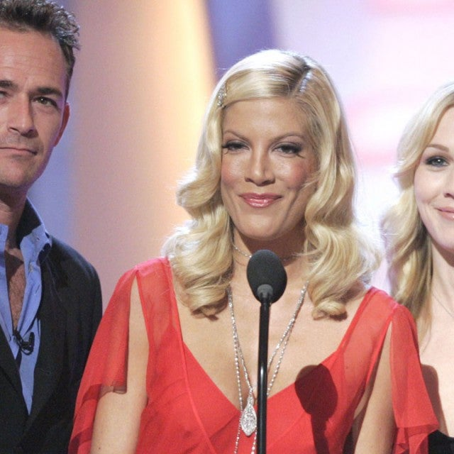 Luke Perry, Jennie Garth and Tori Spelling