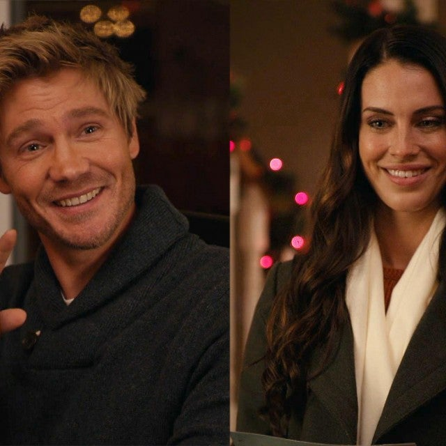 Chad Michael Murray and Jessica Lowndes Have Flirty Banter in Lifetime's 'Too Close for Christmas' (Exclusive)