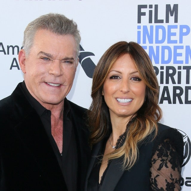 Ray Liotta and Jacy Nittolo arrive for the 35th Film Independent Spirit Awards in Santa Monica, California, on February 8, 2020.