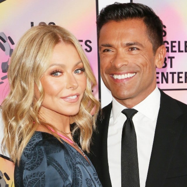 Kelly Ripa and husband Mark Consuelos arrive at the Los Angeles LGBT Center's 49th Anniversary Gala Vanguard Awards at The Beverly Hilton Hotel.
