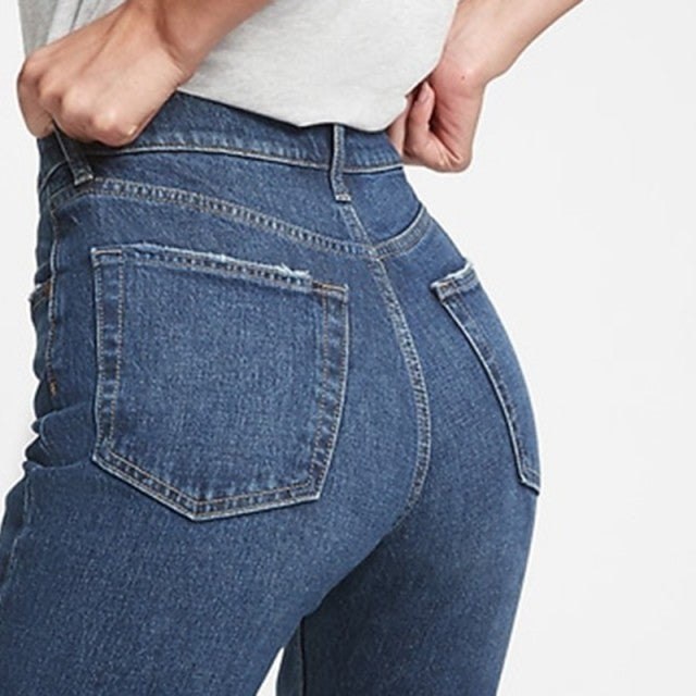 TikTok Gap High Rise Cheeky Straight Jeans