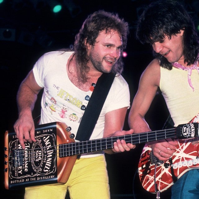 Michael Anthony and Eddie Van Halen