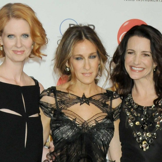 Sarah Jessica Parker, Cynthia Nixon and Kristin Davis attend the ShoWest 2010 Final Night Talent Awards held at the Paris Las Vegas Hotel in Las Vegas, Nevada on March 18, 2010.