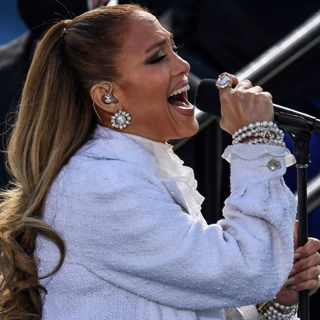 Jennifer Lopez performs at the 2020 Inauguration Ceremony