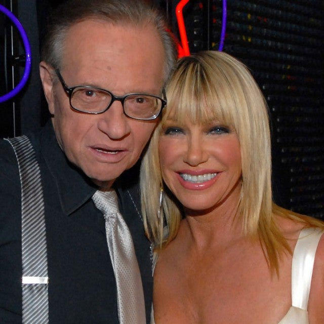 Larry King and Suzanne Somers
