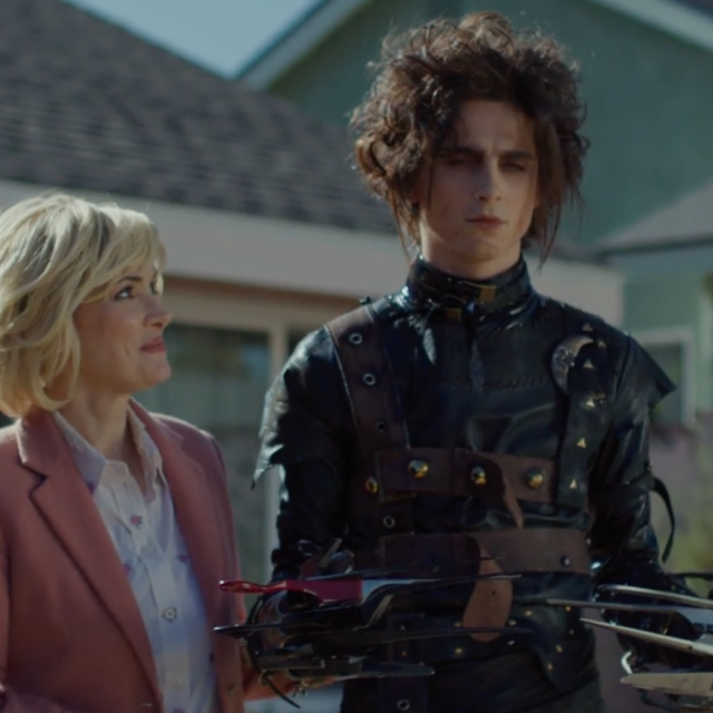 timothee chalamet winona ryder edward scissorhands cadillac ad