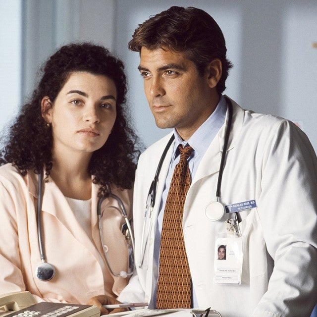 Julianna Margulies as Nurse Carol Hathaway, George Clooney as Doctor Doug Ross