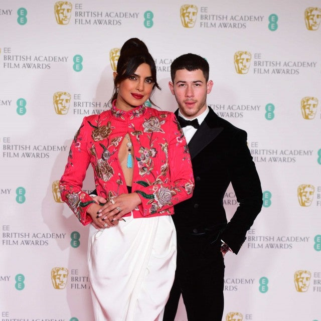 Priyanka Chopra Jonas and her husband Nick Jonas arrives for the EE BAFTA Film Awards at the Royal Albert Hall in London.