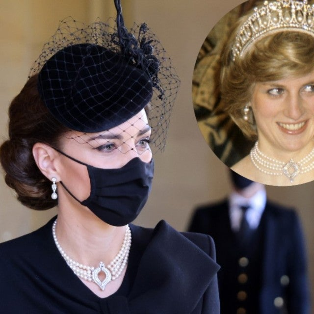 Kate MIddleton wears Queen Elizabeth and Princess Diana's Necklace