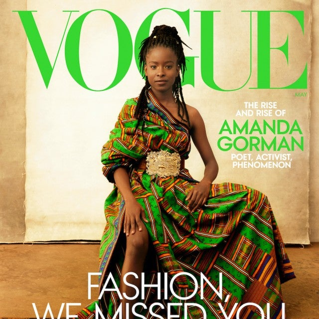 Amanda Gorman on the cover of Vogue's May issue.
