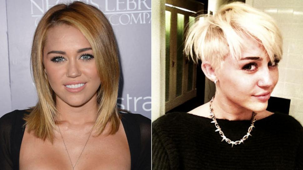 Miley Cyrus Debuts New Punk Rock Haircut Entertainment Tonight