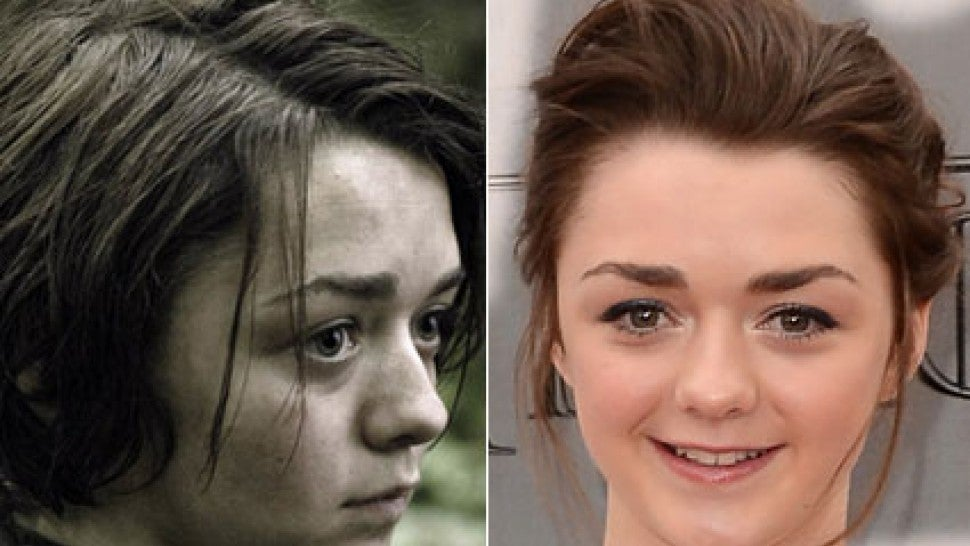 Maisie williams character vs real life